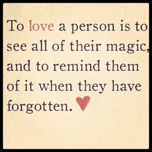 love a person