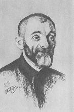 Portret van Lev Shestov / Lev Isaakovitsj Sjestov door Leonid Pasternak, 1910