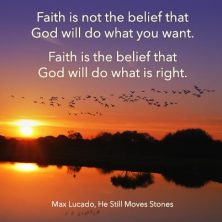 Faith belief D will do right