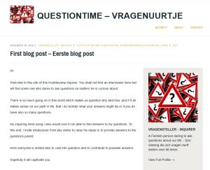 Opening's article of Questiontime - Allereerste artikel op Questiontime - Vragenuurtje: 2016/11/30