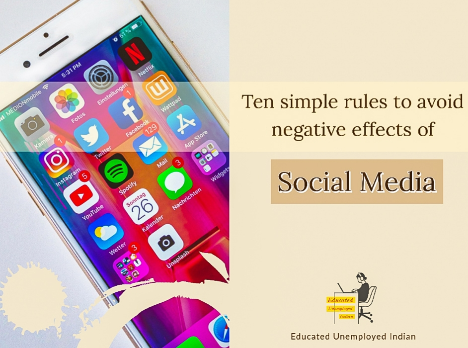 Ten simple rules to avoid negative effects of social media